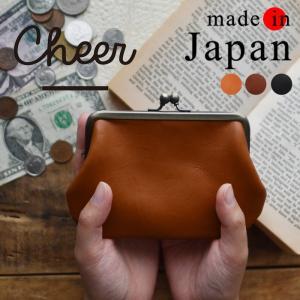 財布 がま口 ウォレット cheer チアー 日本製 ジーンズレザー がまぐち パース レディース カードケース 印鑑ケース 小銭入れ 革 1720SS0602,s10b|ecoloco