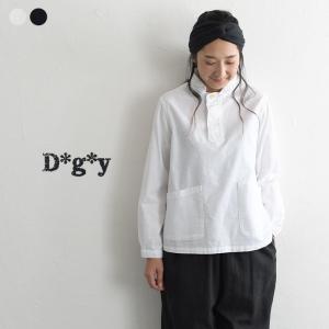 シャツ ブラウス d*g*y 綿オックス ちび衿 プルオーバーシャツ メール便可 長袖 レディース 大きいサイズ 春 夏 1720SS0804,r10d, トップス x03,
