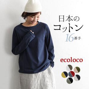 カットソー 色たくさん日本製 ラグラン 長袖 Tシャツ メール便送料無料 綿 大きいサイズ 体型カバーearth_eco_loco,1620AW0902,pk,s10b,