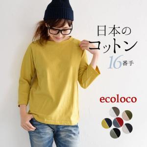 カットソー Tシャツ 日本製 天竺 ラグラン メール便送料無料 ロンT レディース 大きいサイス 綿 春 夏 秋 冬 earth_eco_loco,1720AW0810,s08a,|ecoloco