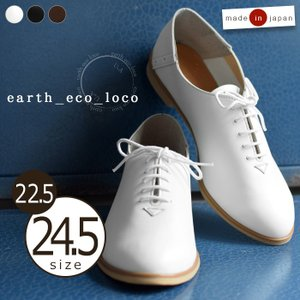 マニッシュ シューズ  日本製 大人の レースアップシューズ 送料無料 大きいサイズ レディース earth_eco_loco 1620AW0923,pk,s11b,  セール|ecoloco