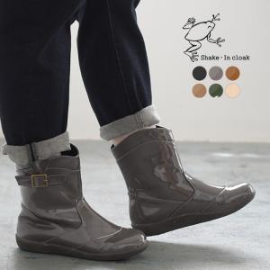 靴 Shake・In cloak カエルマーク レインブーツ シェイクインクローク 長靴 雨の日 ショートブーツ  春 夏 秋 冬 レディース 2120SS0618, ecoloco