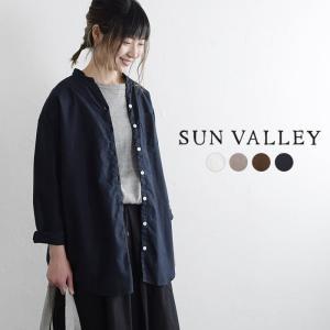 シャツ SUN VALLEY サンバレー 綿オックス 日本製品染め カシュクール ブラウス   コッ...