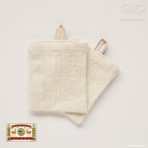 中川政七商店 手紡ぎ綿食器洗い 2枚組(e1/スポンジ/4547639507846)|ecomarche