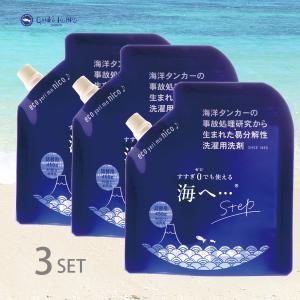 (4個組)がんこ本舗 洗濯用洗剤 海へ・・・ 詰替パック 450ml(u2/洗濯洗剤/4525048419806)|ecomarche