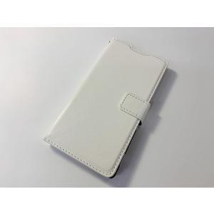 【新品】Xperia Z4(SO-03G/SOV31/402SO)用 レザースタンドケースポーチ 手帳型 白/ホワイト|ecomoshinshimonoseki