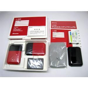 docomo Wi-Fiルーター L-04D レッド Xi対応  大容量バッテリー付き