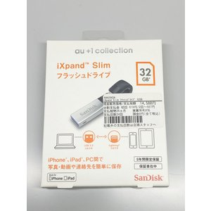 【新品】au +1collection SanDisk サンディスク  iXpand Slim フラッシュドライブ 32GB R06Z002A / SDIX30N-032G-JKACN|ecomoshinshimonoseki