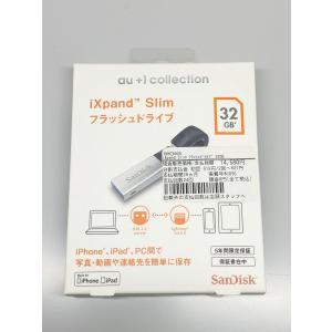 【新品開封品】au +1collection SanDisk サンディスク  iXpand Slim フラッシュドライブ 32GB R06Z002A / SDIX30N-032G-JKACN|ecomoshinshimonoseki