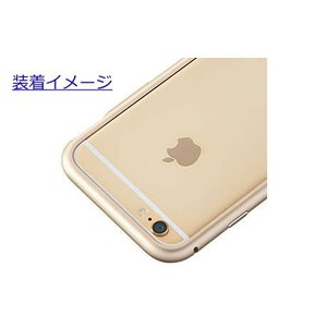 au +1 collection iPhone 6/アルミニウムバンパーケース/ゴールド/R04J004N|ecomoshinshimonoseki