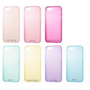 SoftBank SELECTION パステルケース for iPhone 5s/5/SE ストラップホール付 SB-IA06-SCPT/TR ブルー|ecomoshinshimonoseki