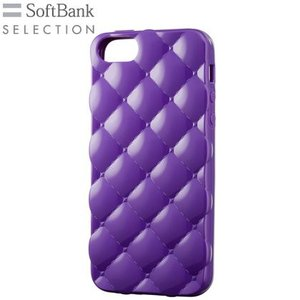 SoftBank SELECTION キルトパターンケース for iPhone 5s/5/SE/SE SB-IA06-SCQS/PP パープル|ecomoshinshimonoseki