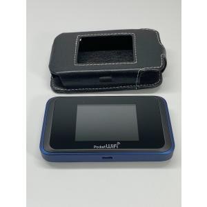 SoftBank Pocket WiFi 501HW ネイビーブルー Wi-FIルーター ケース付き|ecomoshinshimonoseki