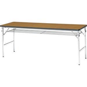 ミーティングテーブル 60M チーク 幅1800×奥行き600×高さ700mm 1-385-1062|economy