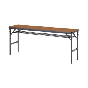 ミーティングテーブル 45-T チーク 幅1800×奥行き450×高さ700mm 1-385-1095|economy