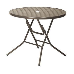 アルミフォールディングテーブル  直径900mm AL-F90RT economy