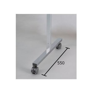 アルミポール脚(32mm角) AR連結ボード用 1面用 キャスタータイプ 高さ1200mm用 AR32T12C1 economy