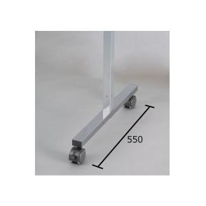 アルミポール脚(32mm角) AR連結ボード用 2面用 キャスタータイプ 高さ1800mm用 AR32T18C2 economy