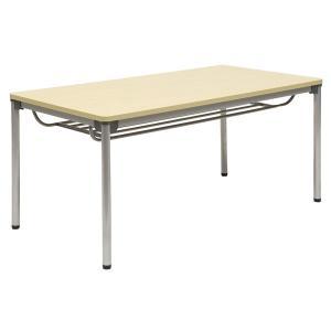 ミーティングテーブル・会議テーブル/ ASSテーブル (幅1200×奥行き750mm・棚付) ASS-1275-M1|economy