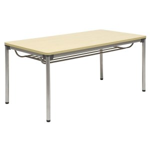 ミーティングテーブル・会議テーブル/ ASSテーブル (幅1500×奥行き750mm・棚付) ASS-1575-M1|economy