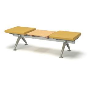 コクヨ ロビーチェアー4700シリーズ 3連テーブル付きベンチ CN-4703BT|economy
