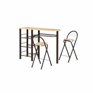 ハイテーブルセット 3点セット CT-1200-BR|economy
