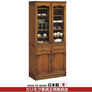 カリモク 食器棚・ダイニングボード/コロニアル 食器棚 幅878mm EC3080NK|economy