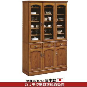 カリモク 食器棚・ダイニングボード/コロニアル 食器棚 幅1172mm EC4080NK|economy