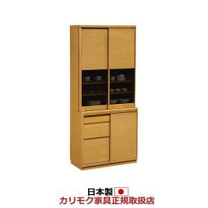 カリモク 食器棚 幅866mm 高さ1936mm ET3410|economy