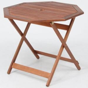 ガーデンテーブル/ 八角テーブル 90cm GT04FB ブラウン(81061) F-81061 economy