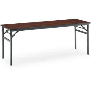 コクヨ 会議用テーブルKT-N120シリーズ 折りたたみ机(長机) 棚付き 幅1800×奥行き450mm KT-NS120|economy
