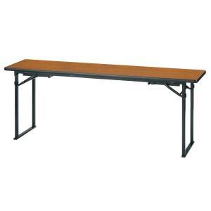 折畳み会議テーブル(座卓兼用)平板脚タイプ 国産品 幅1800×奥行450×高さ700mm ソフトエッジ KTZ-1845HSE|economy