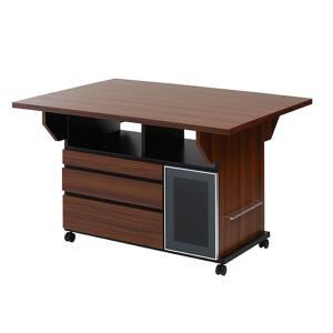 バタフライカウンターテーブル 幅119.5cm チェリーブラウン色 NSA-NO-0069|economy