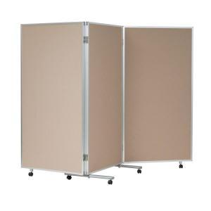 パーテーション 両面ワンウェイ掲示板 360度折り畳み可能 幅1800×奥行610×高さ1800mm VKK606F|economy