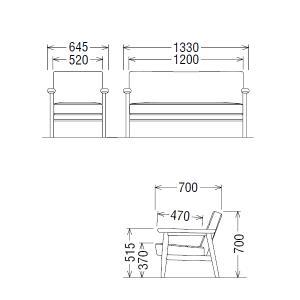 カリモク ソファ・2人掛け  合皮張 長椅子 WS1193BW|economy|02