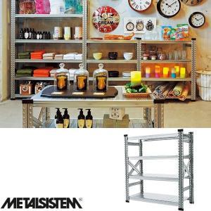 メタルシステム/METALSISTEM 4段スチールシェルフ 幅900mm 4ティア (Q1869) Y-001845|economy
