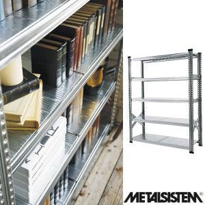 メタルシステム/METALSISTEM スチールシェルフ 5段 幅1200mm 5ティア (Q1871) Y-001876|economy