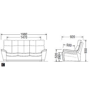 カリモクソファ・3人掛け/ZT73モデル/本革張 長椅子(COM オークD・G・S/ネオスムース) ZT7303-NS|economy|04
