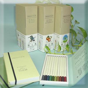 トンボ鉛筆 色辞典 第一集〜三集 色鉛筆全90色セットIROJITEN|econvecoco