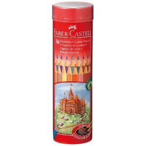 ファーバーカステル(FABER-CASTELL)色鉛筆 丸缶 36色セット TFC-CPK/36C|econvecoco