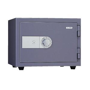 日本アイ・エス・ケイ(旧キング工業) 家庭用耐火金庫 キングスーパーダイヤル耐火金庫 アラーム付 KMX-20SDA ダークグレイ|econvecoco