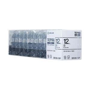 キングジム テプラPROテープカートリッジ 白ラベル 12mm 10個パック SS12K-10P econvecoco