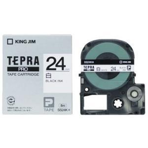 キングジム テプラPROテープカートリッジ 白ラベル 24mm SS24K|econvecoco