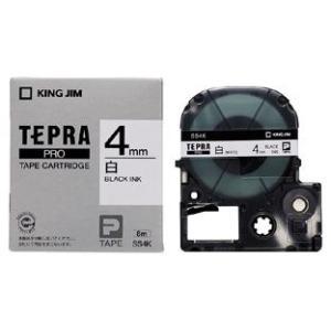 メーカー取寄せ商品 キングジム テプラPROテープカートリッジ 白ラベル 4mm SS4K KING...
