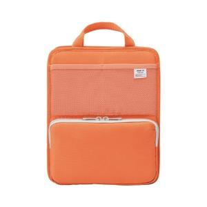 LIHIT LAB.<リヒトラブ> SMART FIT<スマート フィット> bright label スタンドポケット(タテ型) A5 オレンジ A7667-4|econvecoco