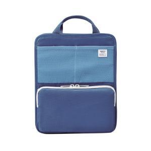 LIHIT LAB.<リヒトラブ> SMART FIT<スマート フィット> bright label スタンドポケット(タテ型) A5 ブルー A7667-8|econvecoco
