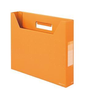 プラス(PLUS)デジャヴ ボックスファイル スリム A4-E ネーブルオレンジ FL-022BF 87-614