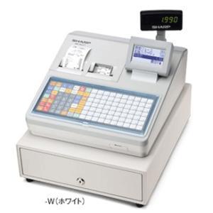 【お得なレジロール5巻付きセット】シャープ<SHARP>多機能電子レジスター XE-A417-W(XEA417W) ホワイト 2シート フラットキーボードタイプ|econvecoco