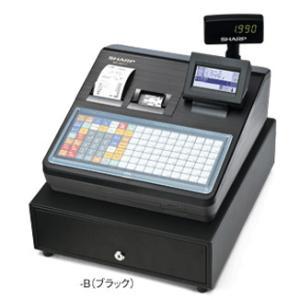 【お得なレジロール5巻付きセット】シャープ<SHARP>多機能電子レジスター XE-A417-B(XEA417B) ブラック 2シート フラットキーボードタイプ|econvecoco