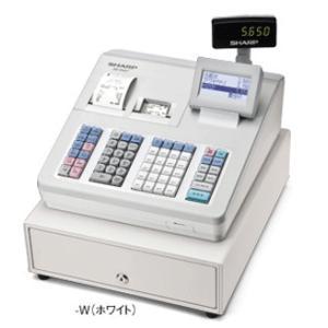 シャープ<SHARP>多機能電子レジスター XE-A407-W(XEA407W) ホワイト 2シート ブロック別キーボードタイプ オートカッター付サーマルプリンタ搭載20部門|econvecoco